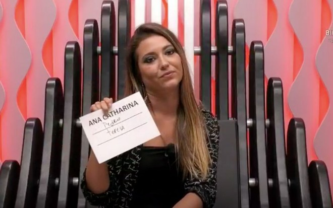 A participante do Big Brother de Portugal Ana Catharina durante o reality exibido pela TVI