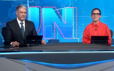 William Bonner e Renata Vasconcellos no Jornal Nacional de 4 de novembro de 2020