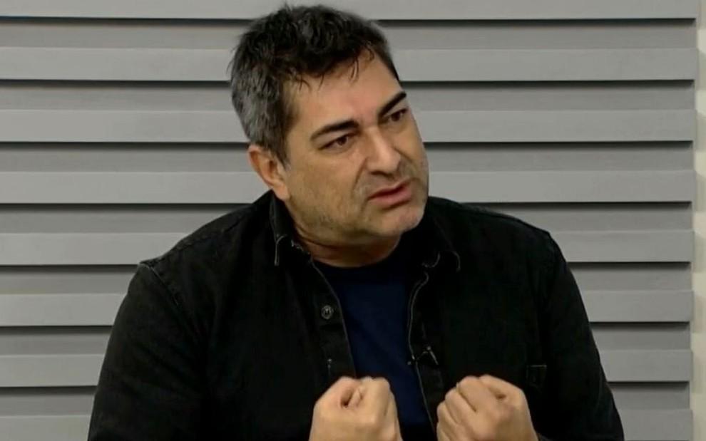 Zeca Camargo em entrevista para telejornal da Globo, em setembro de 2019