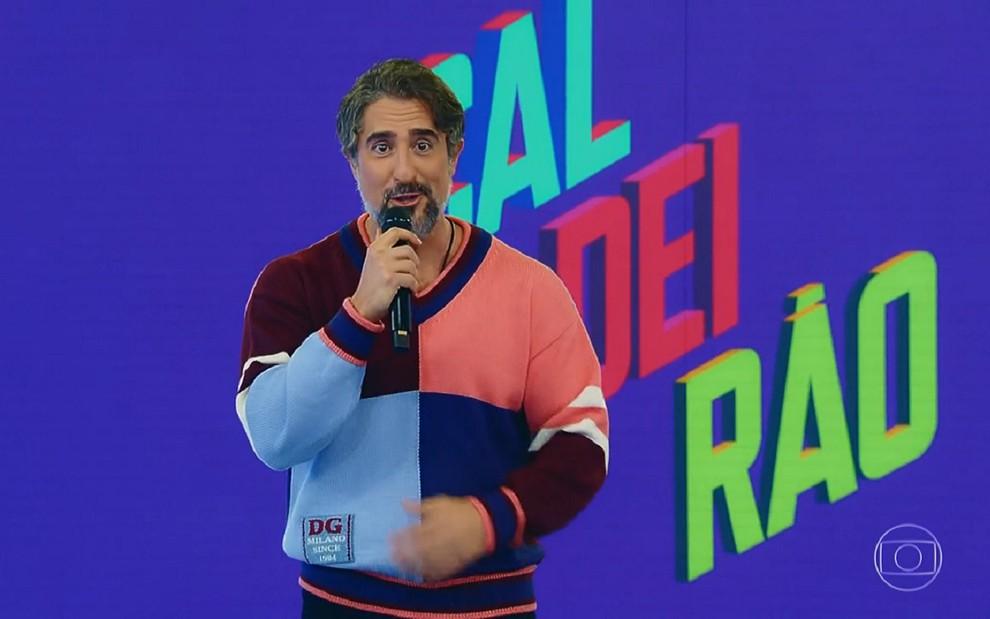Sem chororô, Marcos Mion estreia no Caldeirão de olho em maior ibope do ano  · Notícias da TV