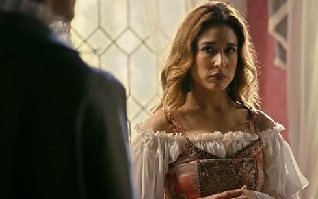 Selena (Gisele Itié) dará golpe para tomar o poder em Belaventura, novela medieval da Record - Reprodução/Record