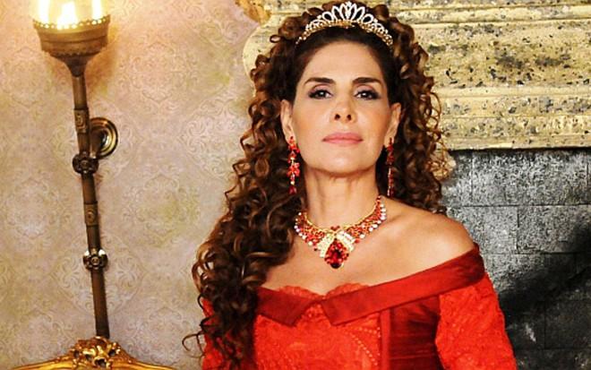 Marion (Helena Fernandes) verá a guerreira tomar seu lugar em Belaventura, da Record - Munir Chatack/Record