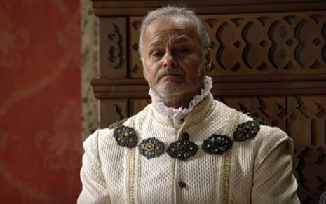Otoniel (Kadu Moliterno) levará duas flechadas do filho de seu rival em cena de Belaventura - Reprodução/Record