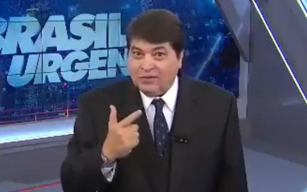 José Luiz Datena no Brasil Urgente de ontem (21): apresentador está sendo acusado de assédio sexual - Reprodução/Band
