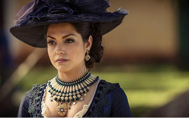 A atriz Thaís Fersoza em cena como a personagem Maria Isabel da novela Escrava Mãe - Divulgação/Record