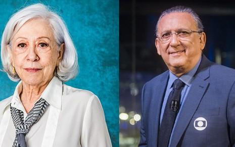 Fernanda Montenegro e Galvão Bueno, duas das maiores estrelas da Globo: salários menores - DIVULGAÇÃO/GLOBO