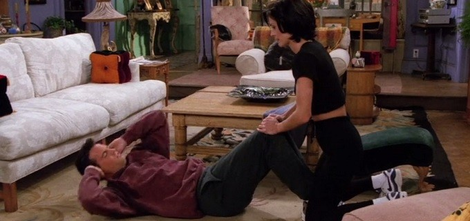 Dicas de Friends para o Dia do Amigo: malhar, lutar, jogar, beijar ...