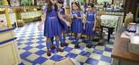 Mili (Giovanna Grigio) deixa o bolo cair no chão da cozinha do orfanato (Foto: Lourival Ribeiro/SBT)