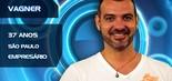 Dono de um buffet infantil e homossexual assumido, o paulistano Vagner Lara tentou entrar nas duas edições anteriores do BBB, sem sucesso. Desta vez, o empresário de 37 anos foi escolhido (Divulgação/TV Globo)