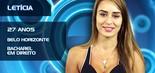 Assim como Fernanda Keulla, vencedora do BBB 13, Letícia Santiago, é mineira e bacharel em direito. Casada e mãe de uma filha, a BBB de 27 anos adora malhação e já fez um ensaio fotográfico com a panicat Nicole Bahls (Divulgação/TV Globo)