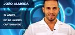 Natural do Rio de Janeiro, o cartomante João Almeida se define como 'bruxo' nas redes sociais. Adepto da musculação, o BBB de 31 anos apareceu na internet divulgando um produto usado como 'bomba' para cavalos (Divulgação/TV Globo)