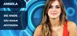 A advogada Angela Munhoz, de 26 anos, já trabalhou como modelo. A BBB é natural de São Roque, interior de São Paulo (Divulgação/TV Globo)