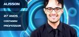 Mineiro da cidade de Contagem, o BBB Alisson Gomes, de 27 anos, é professor, defensor da causa homossexual e fã de ídolos pop, como Christina Aguilera e Michael Jackson (Divulgação/TV Globo)