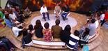 Momento Encontro: Luiz Felipe Scolari dá entrevista para jornalistas no palco do Fantástico