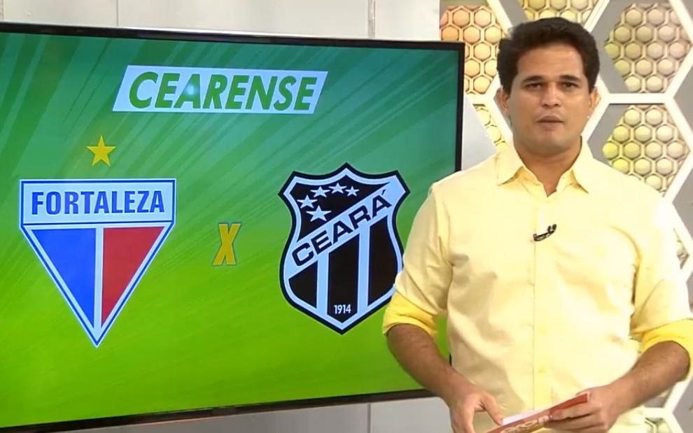 O apresentador Kaio Cézar no Globo Esporte do Ceará  ele anunciou demissão  durante o programa 14c7dec0f3e93