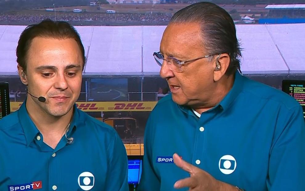 Nem mesmo a participação do ex-piloto Felipe Massa fez com que o público se interessasse pelo GP do Brasil - REPRODUÇÃO/TV GLOBO