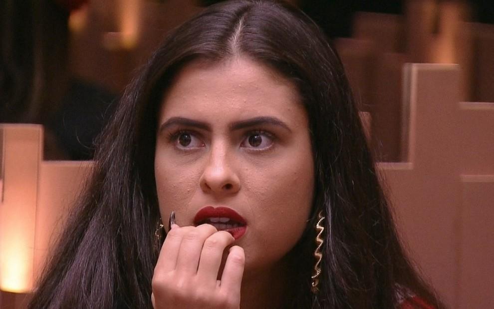 Hana Khalil virou assunto na estreia do Big Brother Brasil 19: única participante adepta do veganismo - REPRODUÇÃO/TV GLOBO