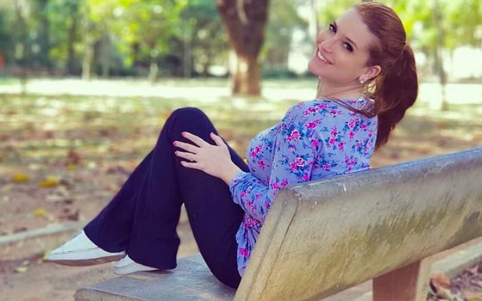 Jéssica Esteves, que foi apresentadora do Bom Dia e Cia, do SBT, quando era criança, entre 2003 e 2005 - Reprodução/Facebook