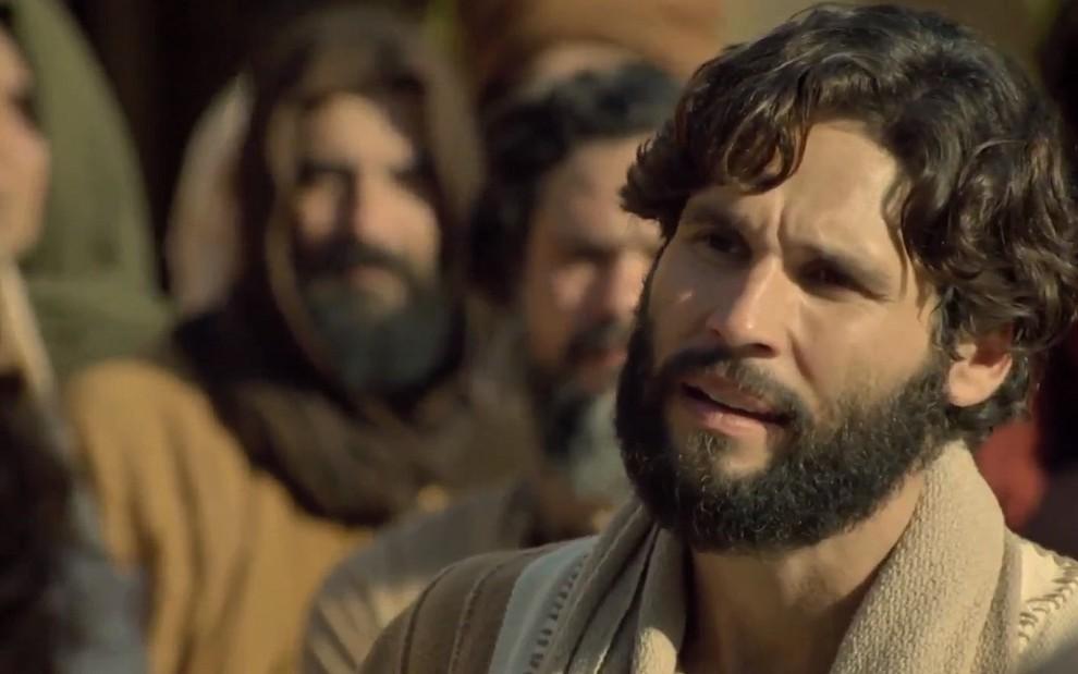 Dudu Azevedo interpreta Jesus na novela bíblica da Record: ator já encerrou gravações da trama - Reprodução/Record