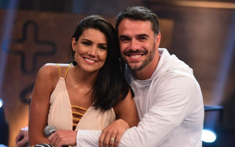 Mariana Felício e Daniel Saullo na final do Power Couple; casal perdeu para Nicole Bahls e Marcelo Bimbi - FOTOS: LEO FRANCO/AGNEWS