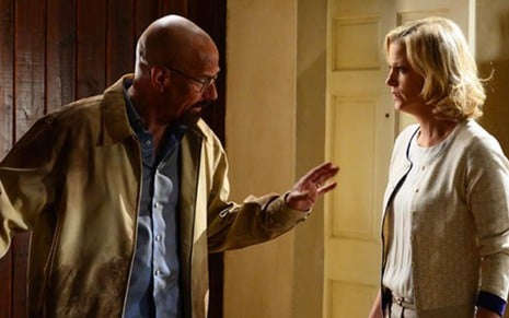 Walter White (Bryan Cranston) e Skyler White (Anna Gunn) em cena do episódio de Breaking Bad - Ursula Coyote/AMC