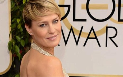 A atriz Robin Wright, zebra do Globo de Ouro: derrotou as favoritas Julianna Margulies e Kerry Washington - Divulgação/Golden Globe