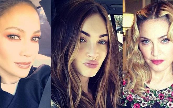 Jennifer Lopez, Megan Fox e Madonna, que teriam reduzido as bochechas com nova cirurgia - Reprodução/Instagram