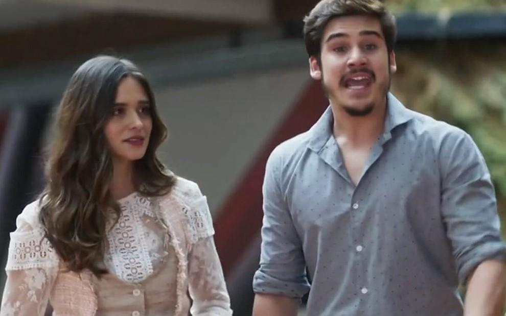 9b44f0c6337 Marocas (Juliana Paiva) e Samuca (Nicolas Prattes) vão unir forças para  salvar