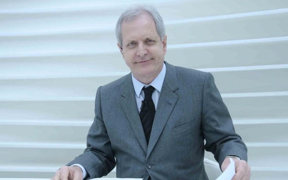 Augusto Nunes na época em que comandou o Roda Viva: conselho do canal virou dor de cabeça - Divulgação/TV Cultura