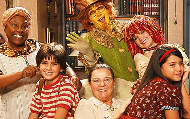 O elenco da última versão do Sítio do Picapau Amarelo, que terminou em 2007 na Globo - Divulgação/Globo
