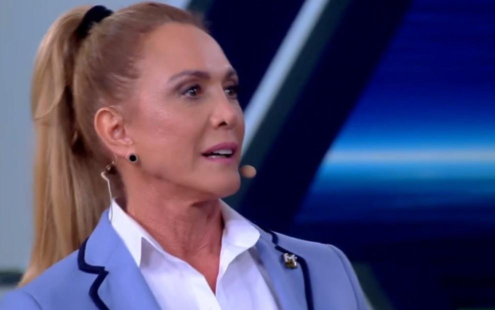 A ex-jogadora de basquete Hortência Marcari durante participação no Tá Brincando de sábado (9) - REPRODU��O/TV GLOBO