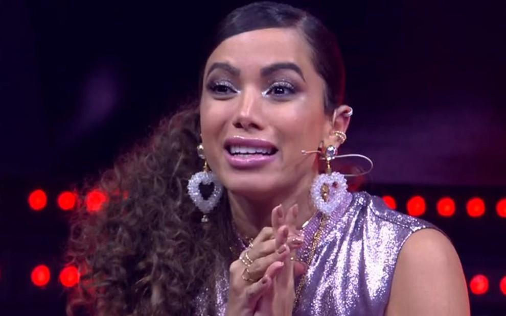 A cantora Anitta durante participação no The Voice Brasil de segunda-feira (17): audiência em baixa - Reprodução/TV Globo