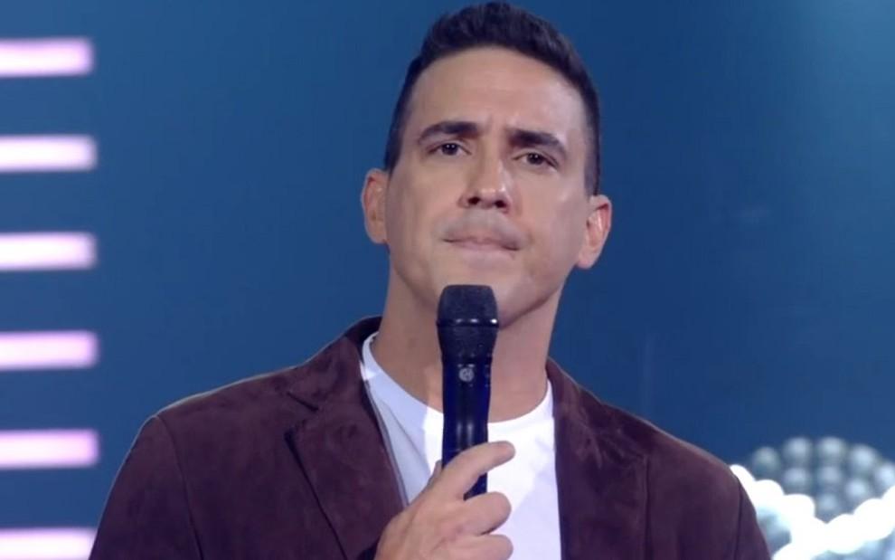 André Marques revoltado durante o The Voice Kids de ontem (17): pior desempenho em dois anos - REPRODUÇÃO/TV GLOBO