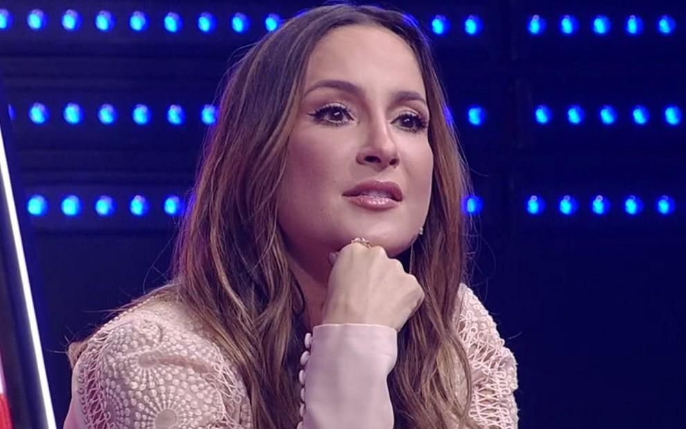 Claudia Leitte durante o The Voice Kids ao vivo do último domingo (10): escorregão na audiência - REPRODU��O/TV GLOBO