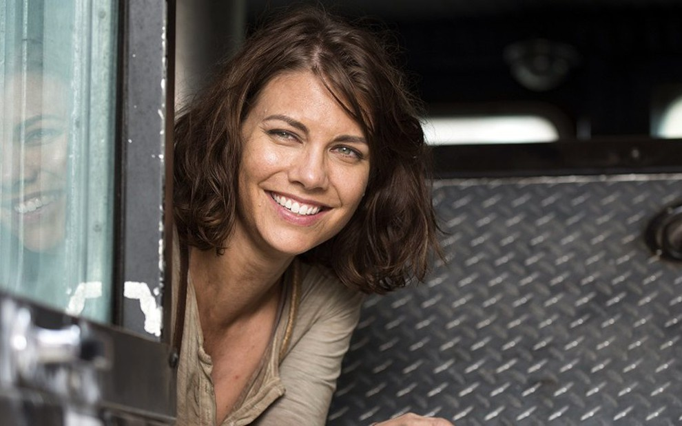 A atriz Lauren Cohan, que vai voltar a interpretar a personagem Maggie na 11ª temporada de Walking Dead