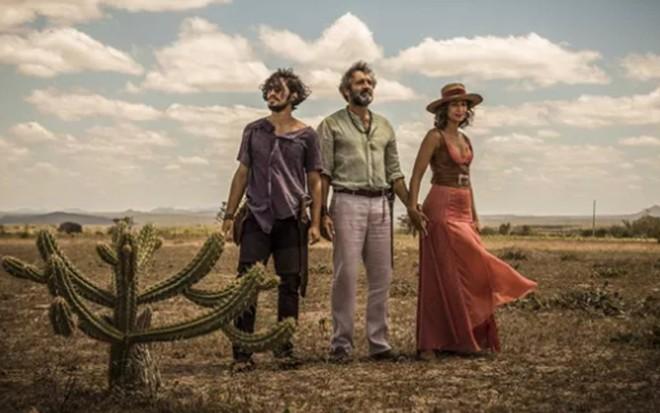 Domingos Montagner em última gravação com Gabriel Leone e Camila Pitanga - Renan Castelo Branco/TV Globo