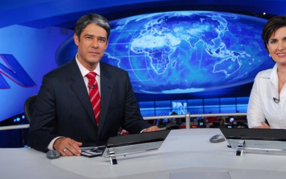 William Bonner e Fátima Bernardes em 2010: ele foi chefe dela durante 12 anos, o que hoje seria proibido - João Miguel Junior/TV Globo