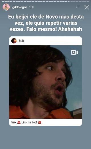 """Gil beija Fiuk em clipe e relembra BBB 21: """"Beijei de novo"""""""