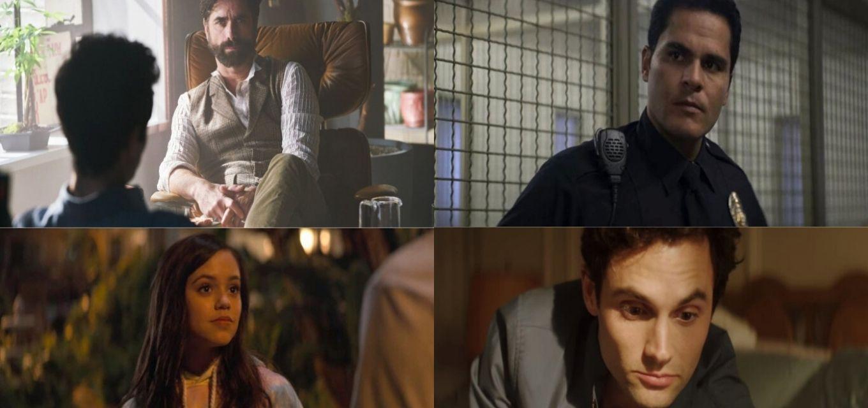 A partir da esquerda, em sentido horário, os personagens Dr. Nicky, Fincher, Ellie e Joe