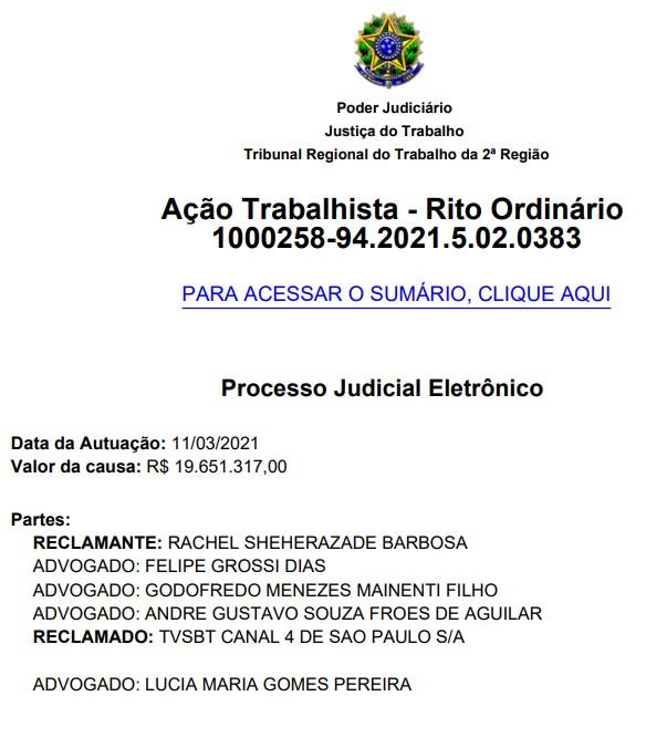 Rachel Sheherazade acusa Silvio Santos de assédio e censura em ação milionária 21
