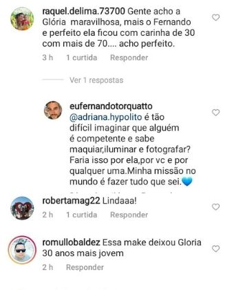 gloria maria reproducao instagram lateral After a tumor, Gloria Maria has model day and makes fans freak: '30 years younger'