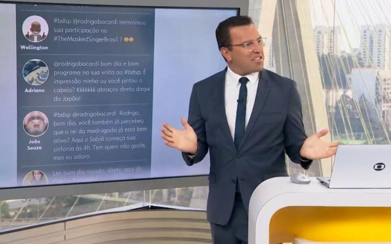 Bocardi volta ao Bom Dia SP, e web suspeita de participação no The Masked Singer · Notícias da TV
