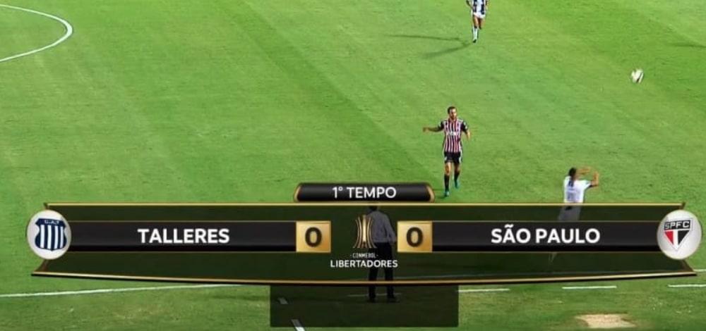Globo escondendo patrocinadores da Libertadores em jogo do São Paulo