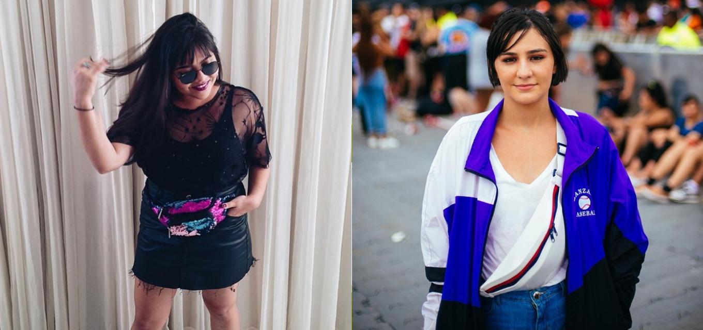Jovens Lorena Morgana e Carolina Oliveira usam pochete, tendência noventista